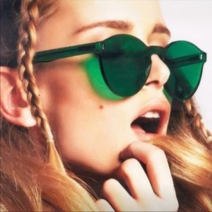Green Transparent Glasses